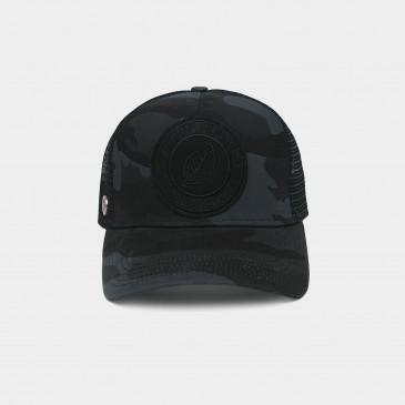 UNICOLOR CAP CAMO BLACK