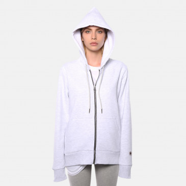 ZIP UP HOOD ICE MARL