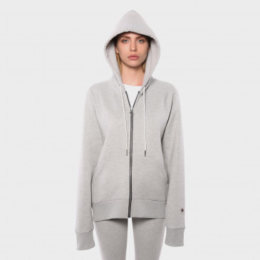 ZIP UP HOOD GREY MARL