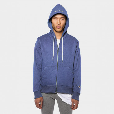TERRY ZIP UP HOOD BLUE SUPREME MARL