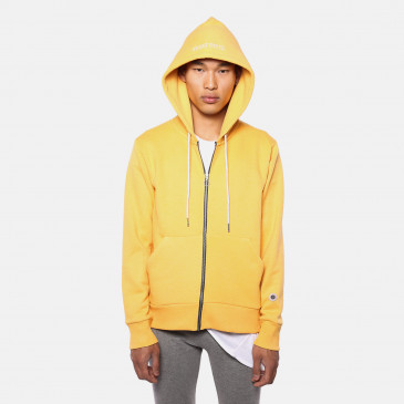 TERRY ZIP UP HOOD BECK GOLD