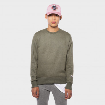 TERRY CLASSIC CREW ARMY MARL