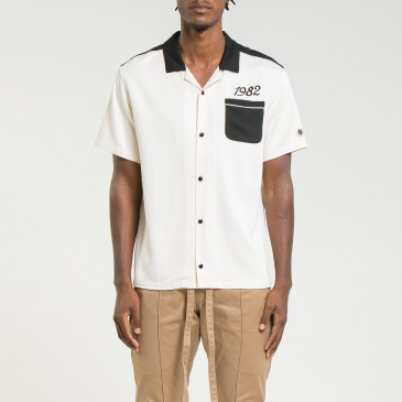 BOWLING SHIRT OFF WHITE/BLACK