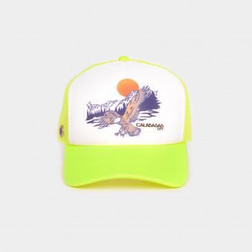 FOAM 2 TONES CAP-NEON YELLOW EAGLES