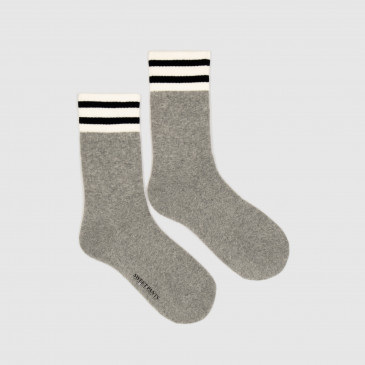 HOME RUN SOCKS GREY MARL