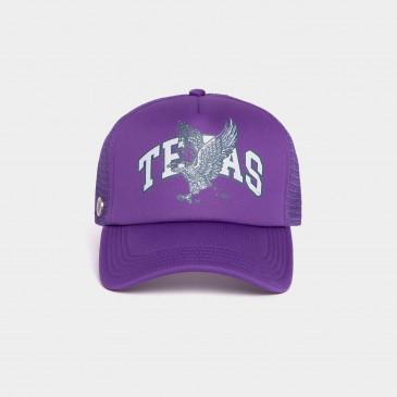FOAM PRINT CAP PURPLE TEXAS