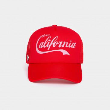 FOAM PRINT CAP RED CALIFORNIA