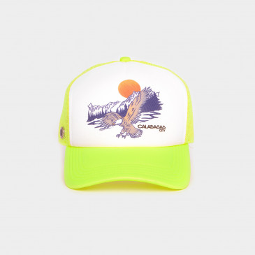 FOAM 2 TONES CAP-NEON YELLOW EAGLES