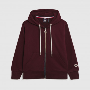 KID ZIP UP HOOD BORDEAUX