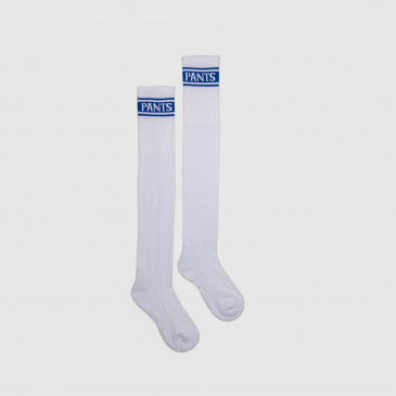 LONG SOCKS WHITE/BLEU SUPREME