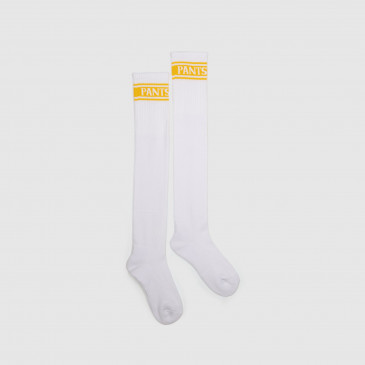 LONG SOCKS WHITE/JAUNE