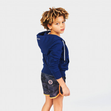 HOLIDAY CAMOUFLAGE BLACK NEON ORANGE KID