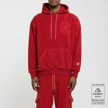 POLAIRE HOODIE RED