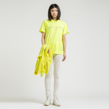 RAINBOW TEE NEON YELLOW