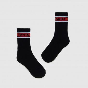 SOCKS BLACK/RED