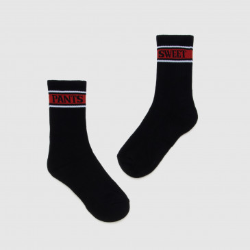 SOCKS BLACK/RED