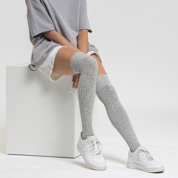 URBAN LONG SOCKS GREY MARL