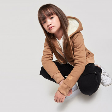 KID SHERPA JACKET CARAMEL