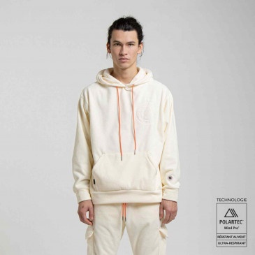 POLAIRE HOODIE OFF WHITE