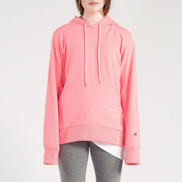 CLASSIC HOOD NEON PINK TERRY
