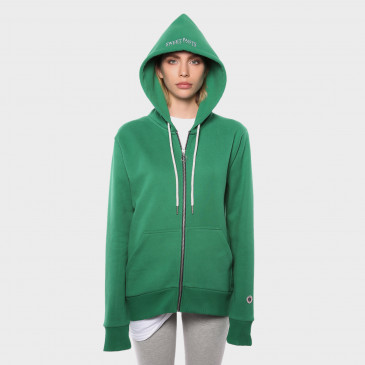 TERRY ZIP UP HOOD MINT