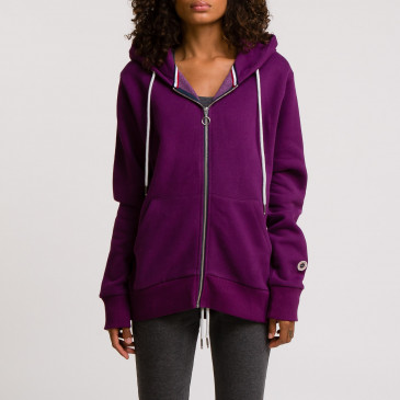 ZIP UP HOOD DARK PURPLE