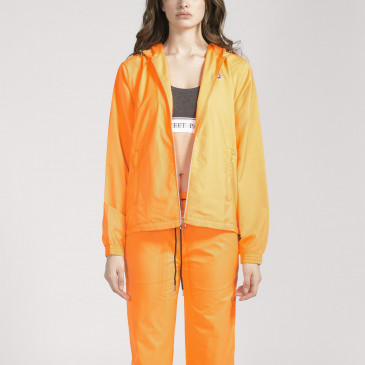TACTEL HOOD ORANGE FLUO