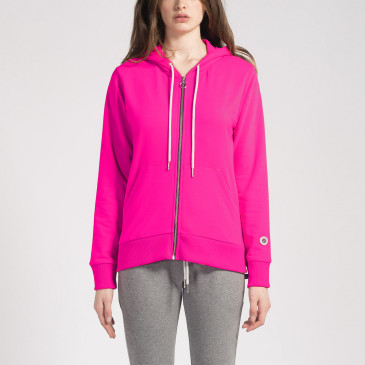 ZIP UP HOOD HOT PINK