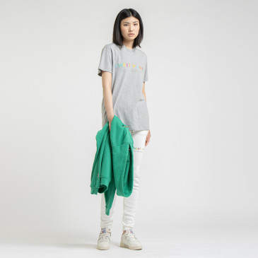 RAINBOW TEE GREY MARL
