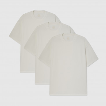 PACK OVER PERF TEE OFF WHITE