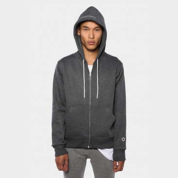 TERRY ZIP UP HOOD MIDNIGHT