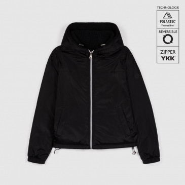 KID WINDBREAKER SHERPA BLACK