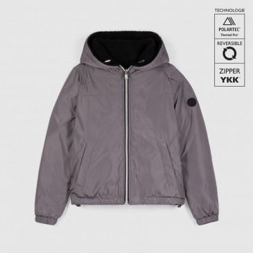 KID WINDBREAKER SHERPA CEMENT