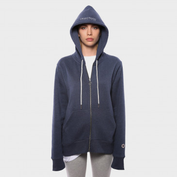 ZIP UP HOOD NAVY MARL