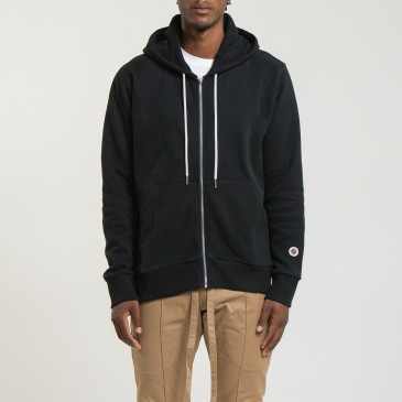 ZIP UP HOOD BLACK