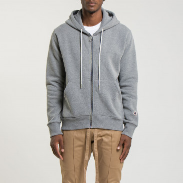 ZIP UP HOOD DARK MARL