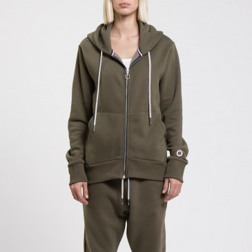 ZIP UP HOOD KAKI